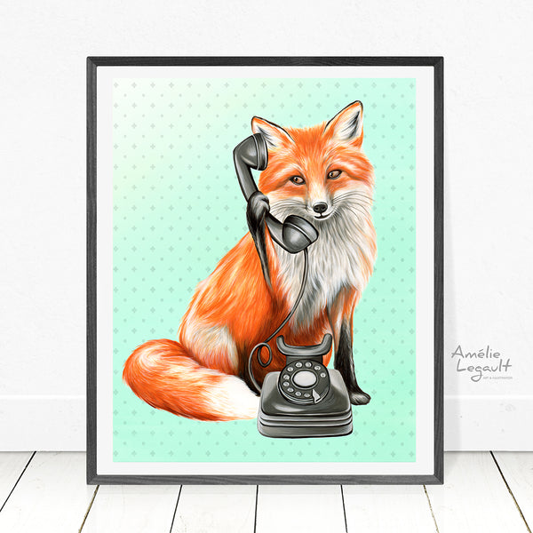 Fox illustration - Amelie Legault