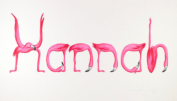 Pink Flamingo personnalized print
