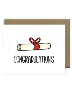 congradulations greeting card by brie