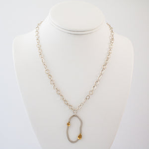 """Sibling Rivalry I"" Necklace - Silver"