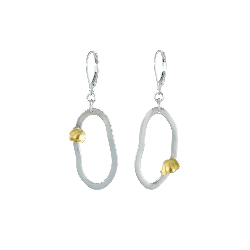 """Sibling Rivalry I"" Earrings - Silver"