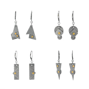 """Abstract Planes"" Dangle Earrings"