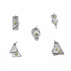 """Abstract Planes"" Pendants"