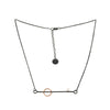 """Line Segments I"" Necklace - Rose Gold"