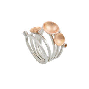 """Wild Roses"" Stacking Rings"