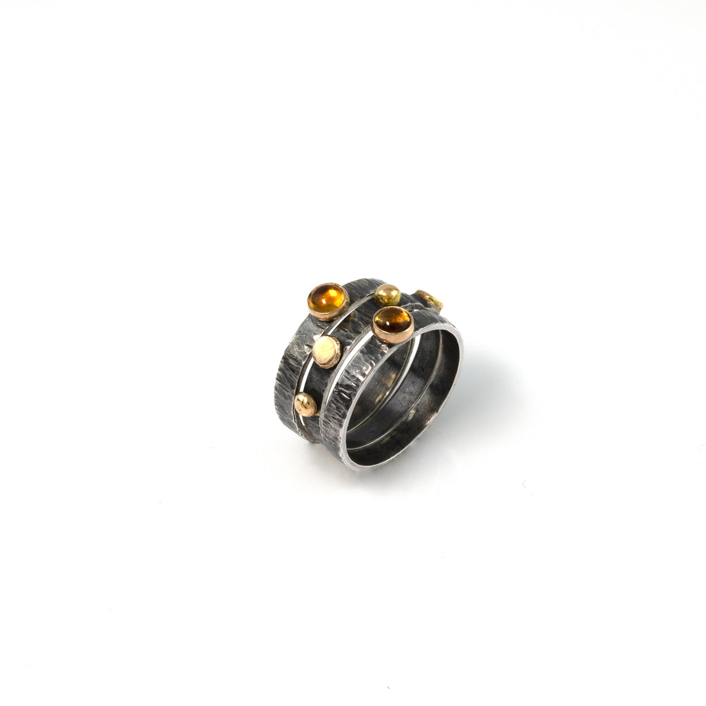 """November Morning"" Stacking Rings"