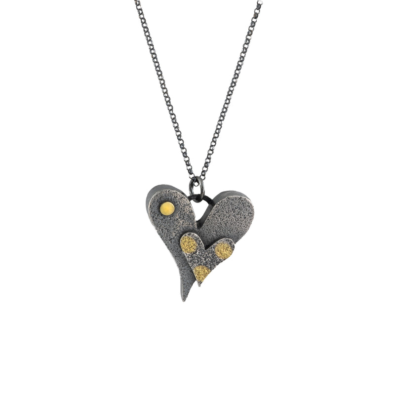 """Two Hearts"" Pendant Necklace"