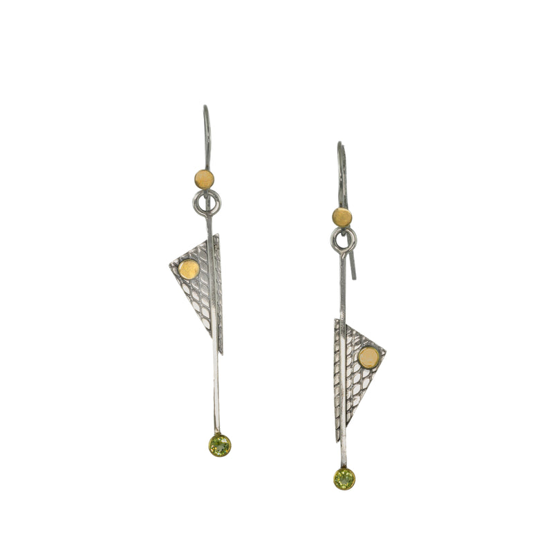 """Basic Geometry Statement I"" Earrings - Triangle"