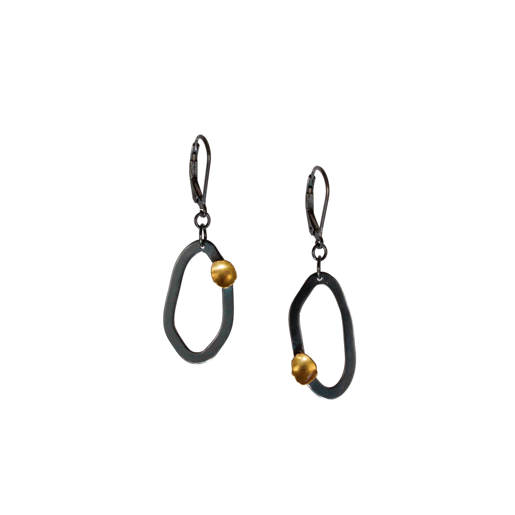 """Sibling Rivalry II"" Earrings - Oxidized"