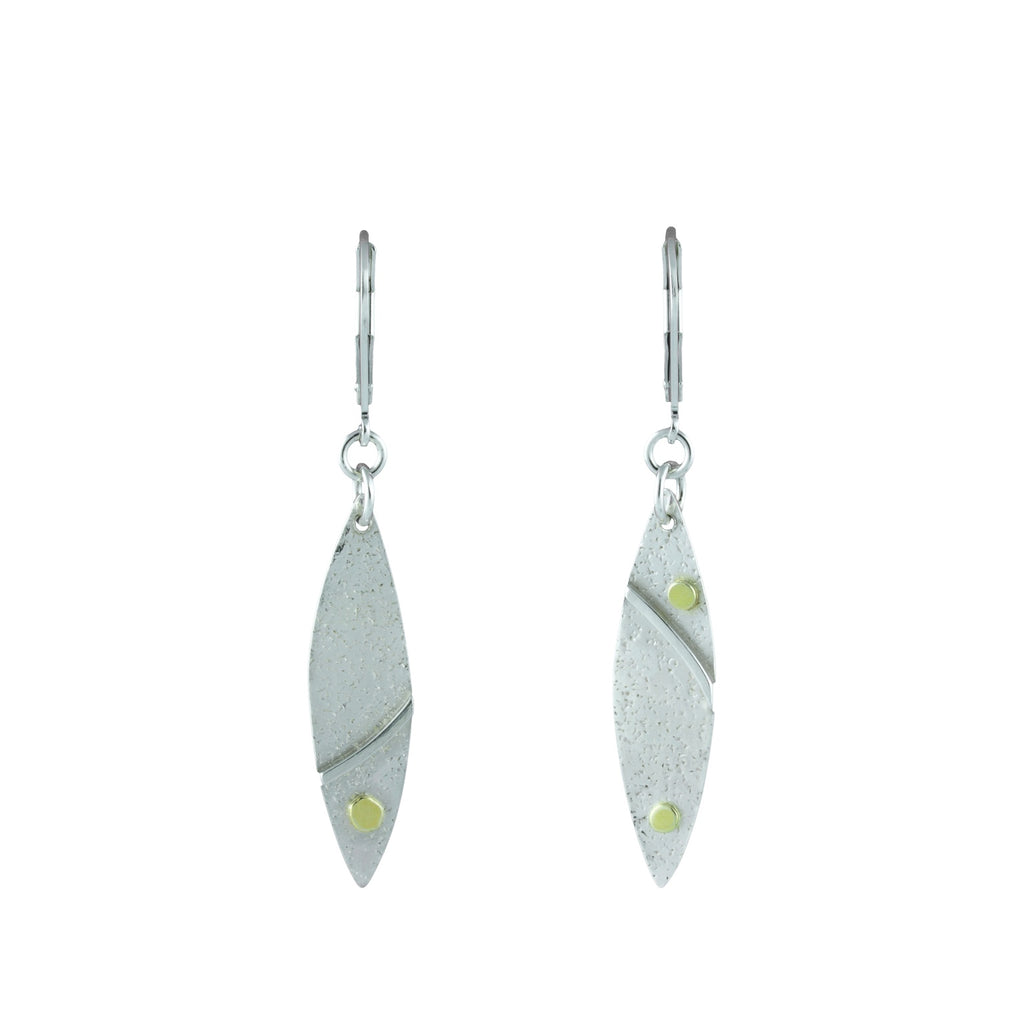 """Silver and Gold"" Earrings"