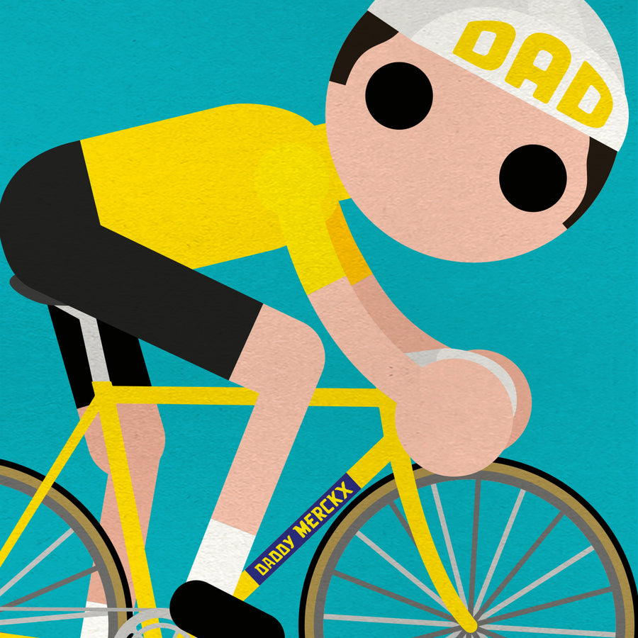 Daddy Merckx Greetings Card