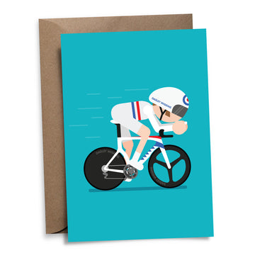 Dadley Wiggins Greetings Card