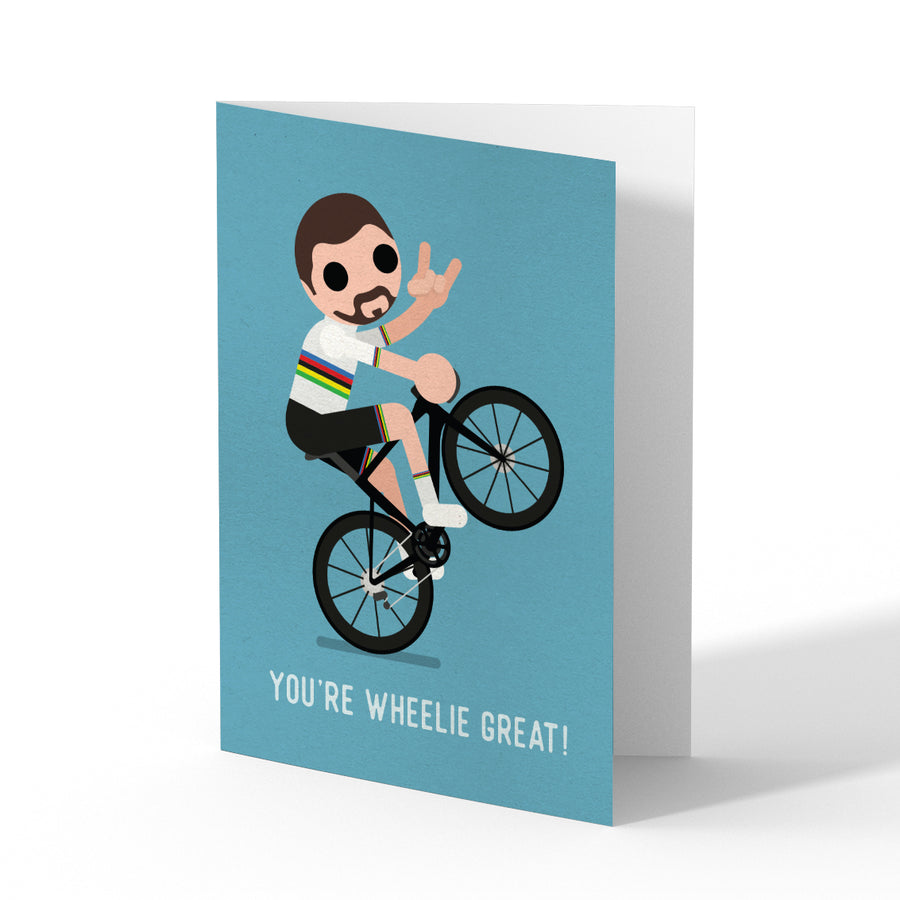 Sagan Wheelie Greetings Card