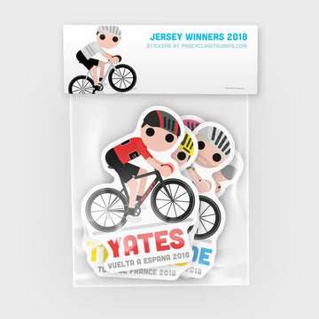 Sticker Pack - Jersey Winners 2018