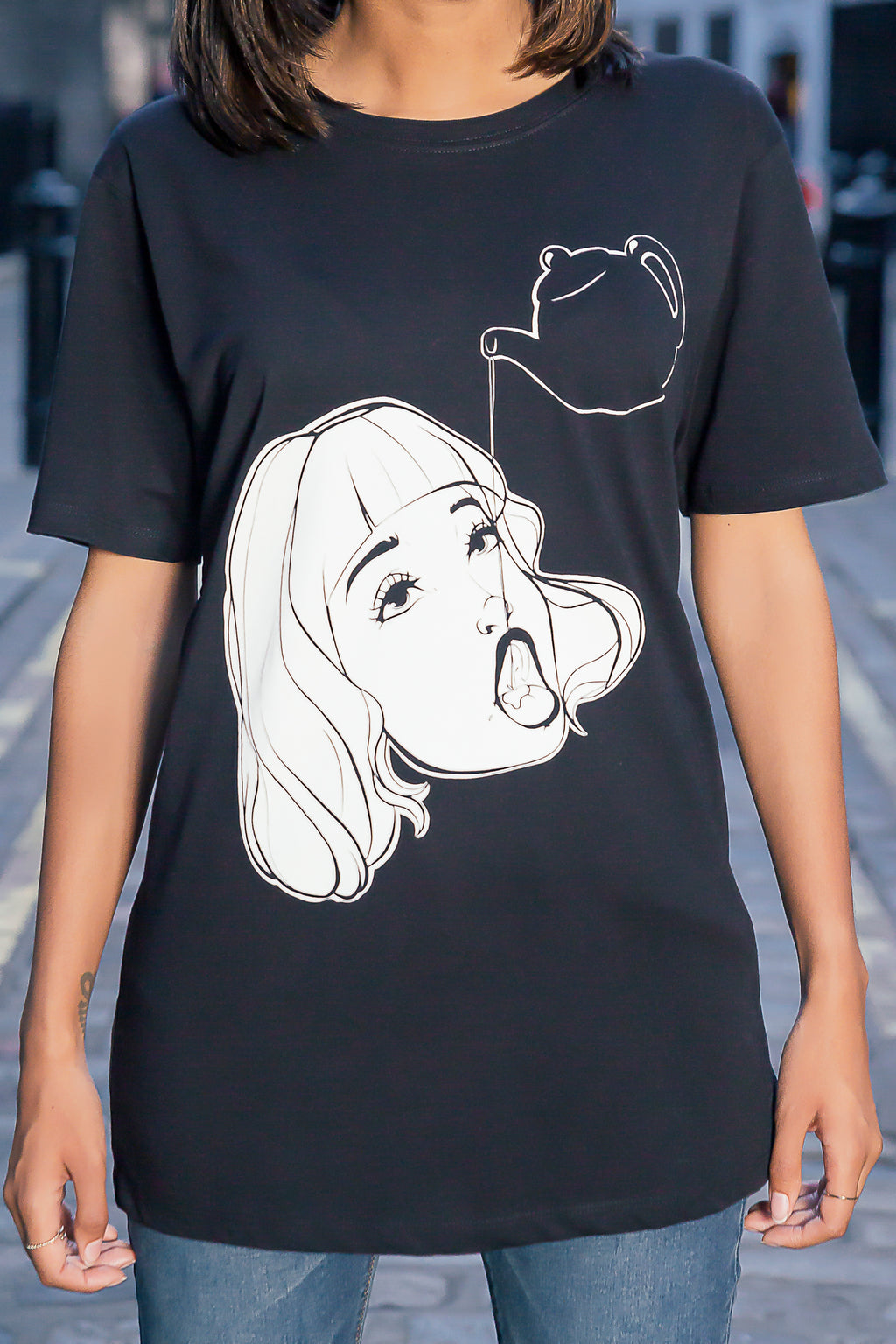 Ahegao and tea t-shirt design