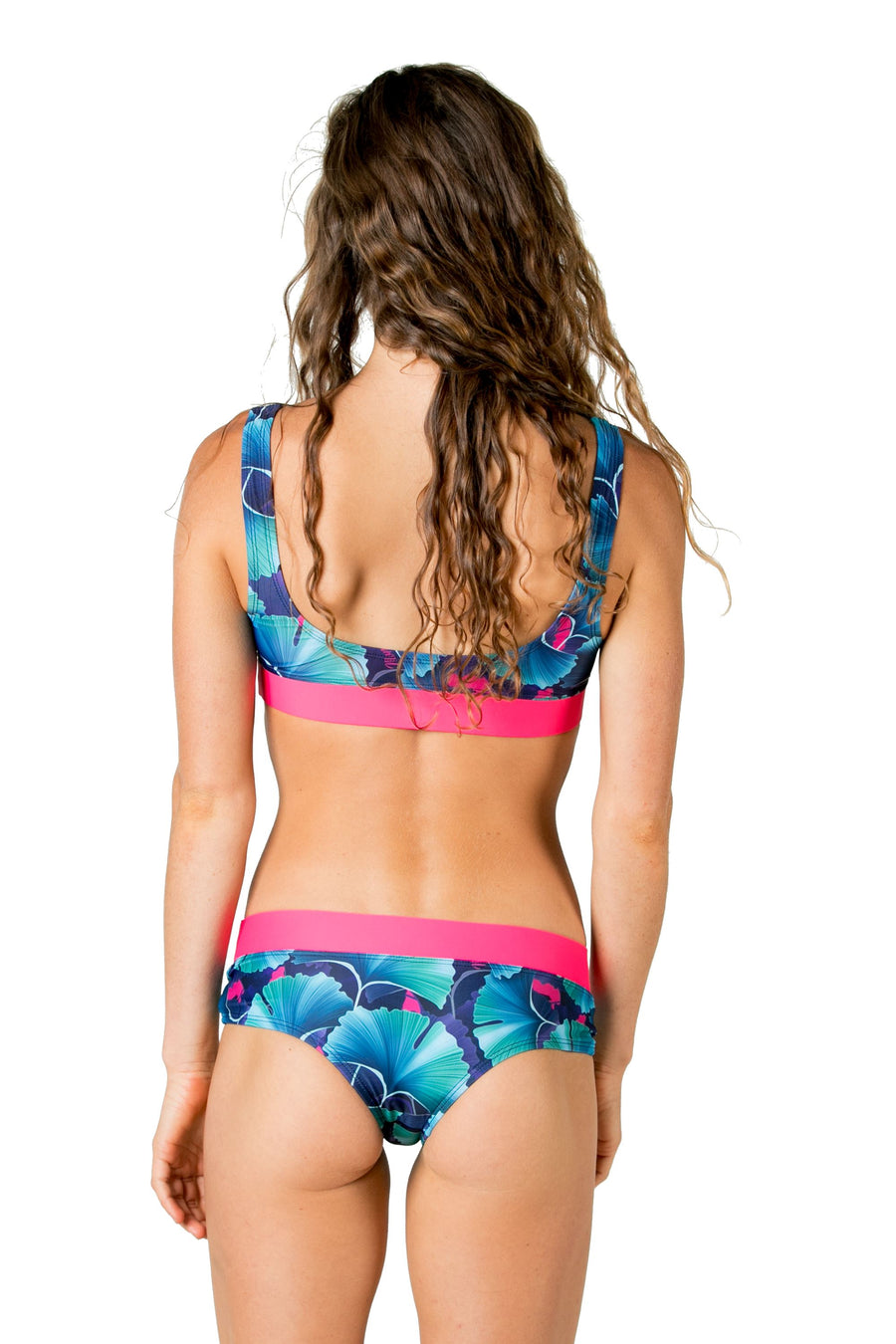 Bliss Cheeky Bikini Bottoms (Ginko Garden / Mona Pink ) Swim and Surf Bottoms Mona