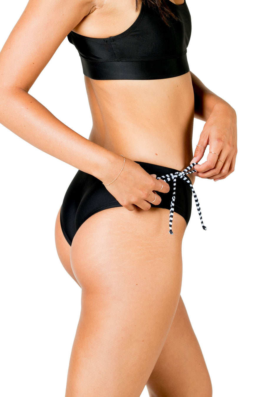 Brisa Cheeky Bikini Bottoms (Solid Black) Swim and Surf Bottoms Mona