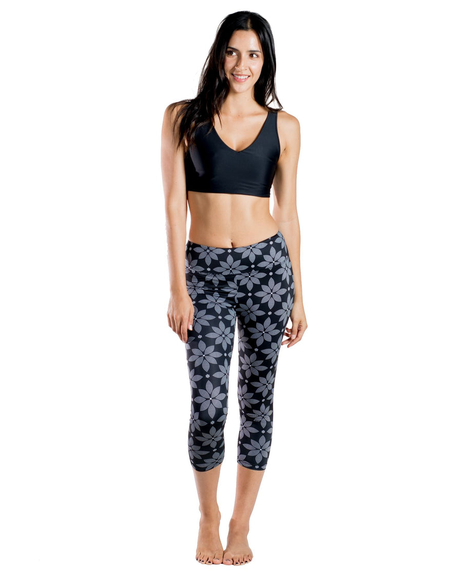 Hope Capri Yoga Pants (Floral) Yoga and Fitness Bottoms Mona