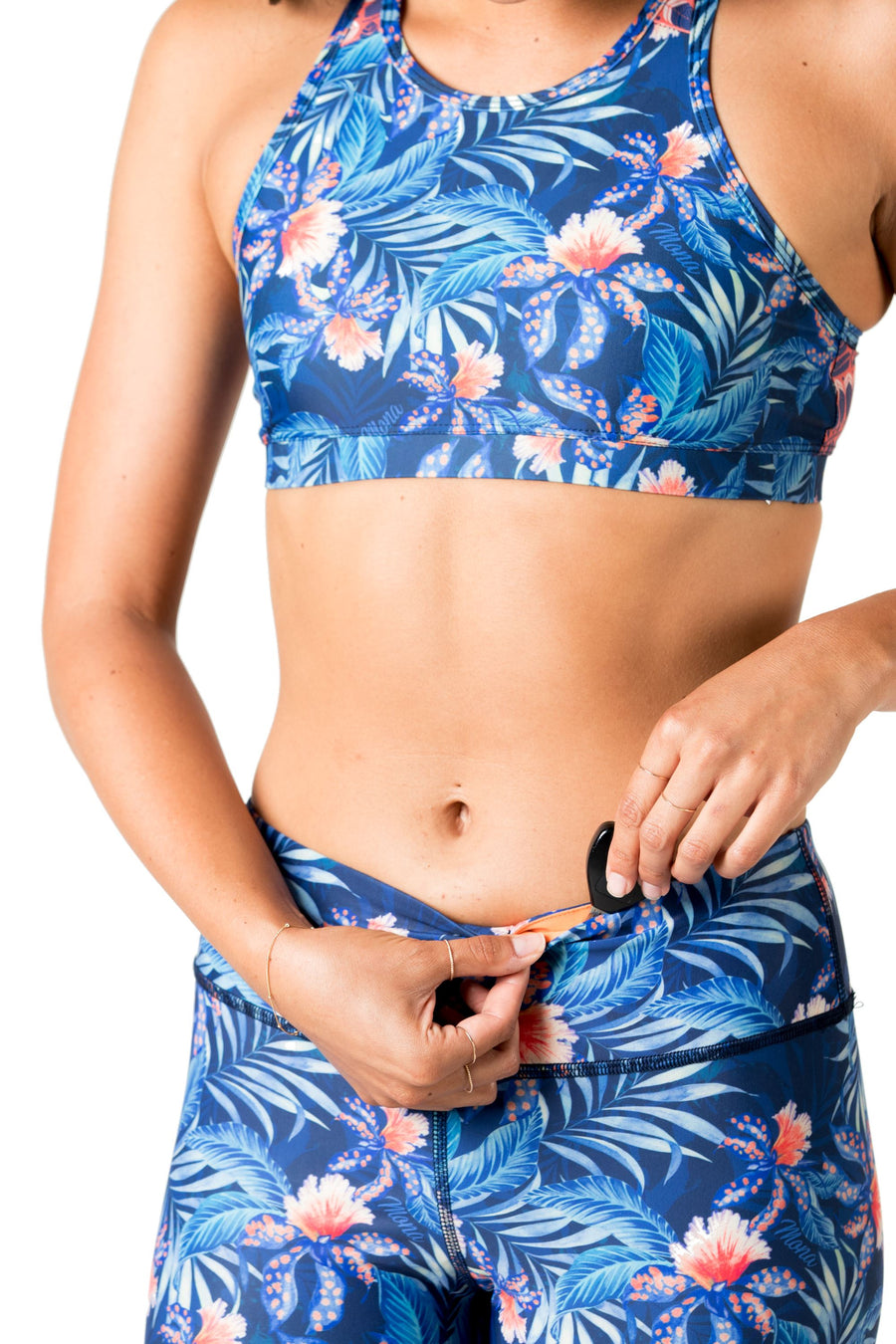 Fishtail Eco-Friendly Swim Leggings (Blue Wow) Swim and Surf Bottoms Mona