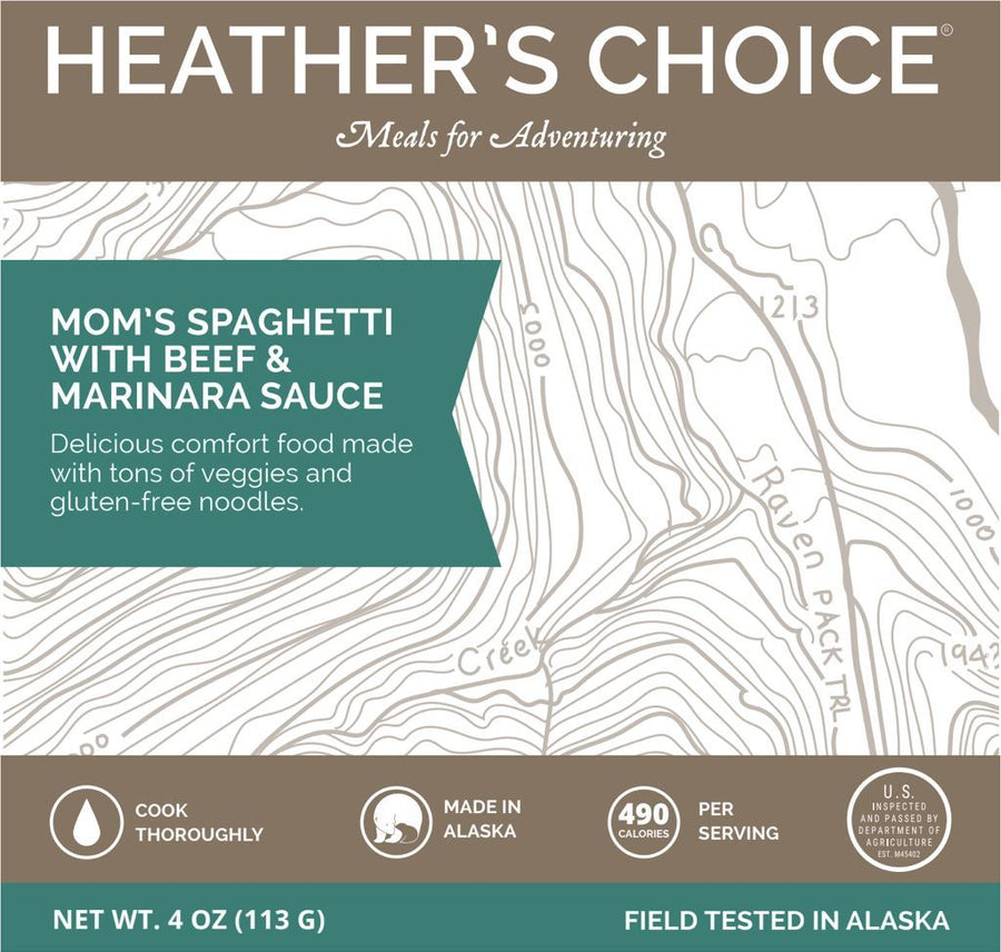 Mom's Spaghetti with Beef and Marinara Entrees Heather's Choice®