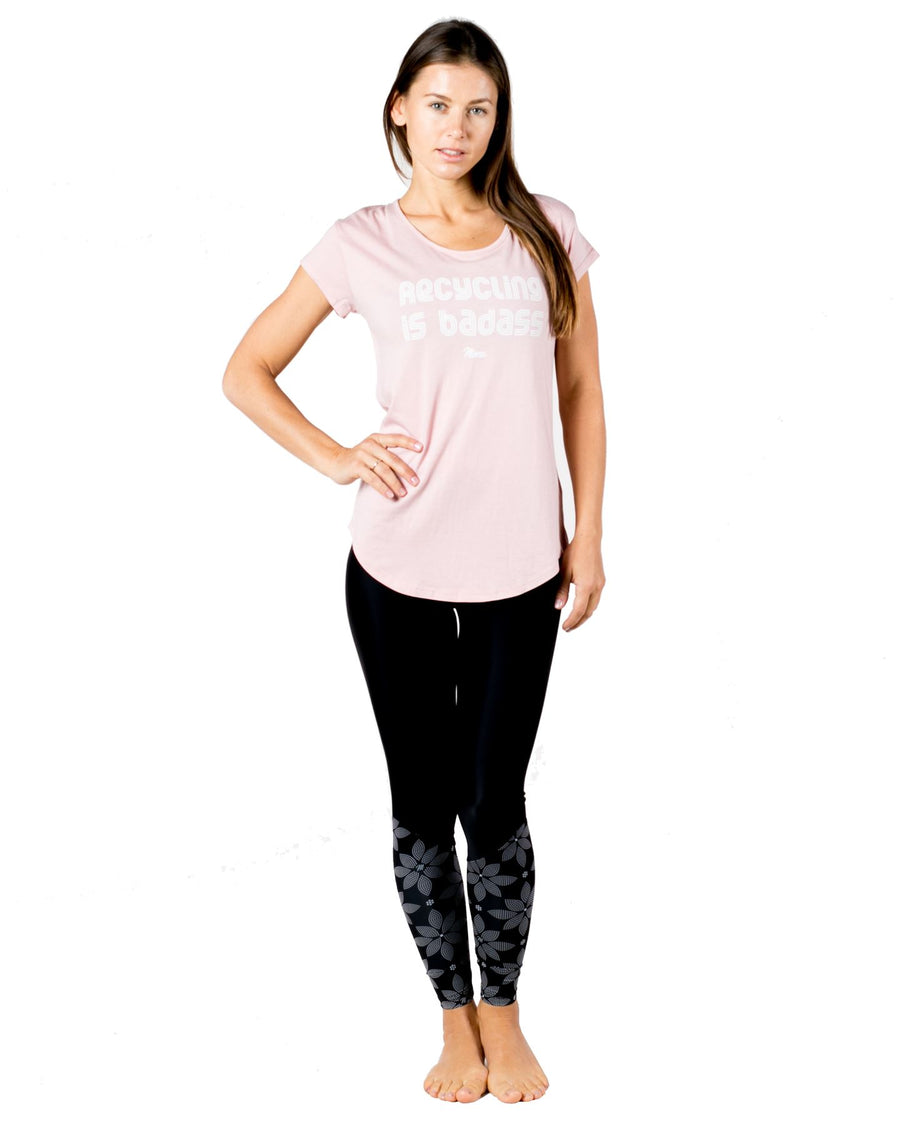 Mona Workout Tee (Rose Quartz) Accessories Tees Mona