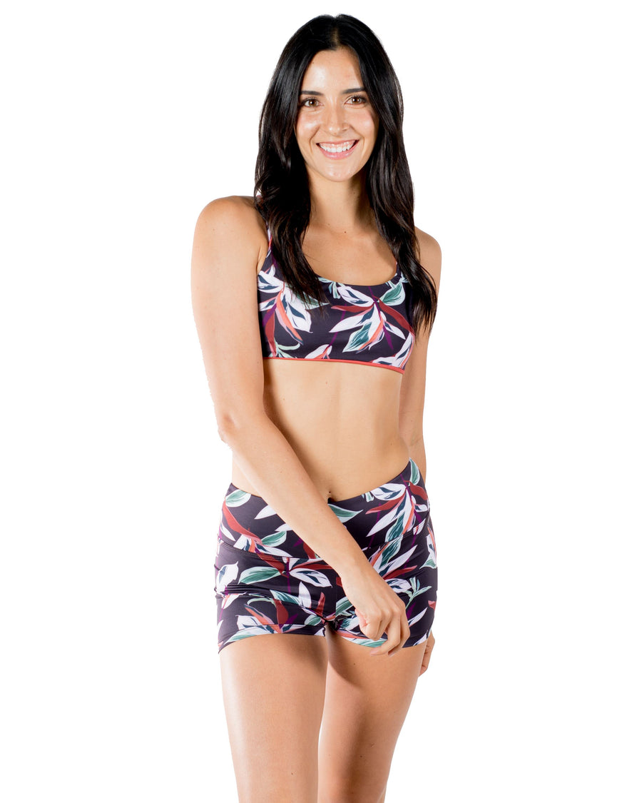 The Flow Reversible Sports Bra (Otoño / Bonfire) Yoga and Fitness Tops Mona