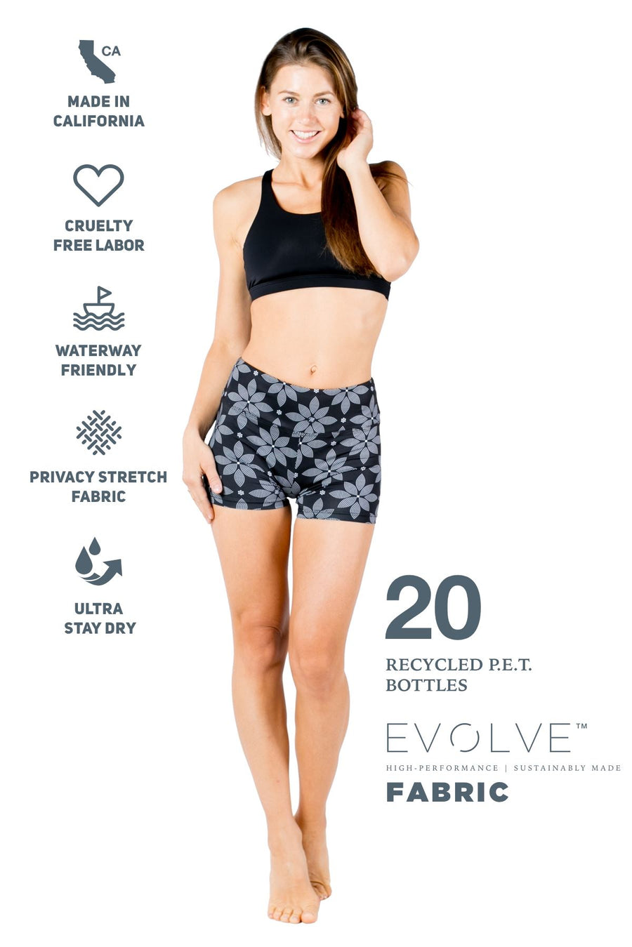 The Flow Reversible Sports Bra (Solid Black / Floral) Yoga and Fitness Tops Mona