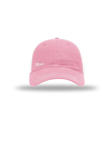 The Mona Workout Cap (Mona Pink / White) Accessories Caps Mona