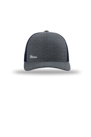 The Mona Workout Cap (Gray Heather / Navy) Accessories Caps Mona