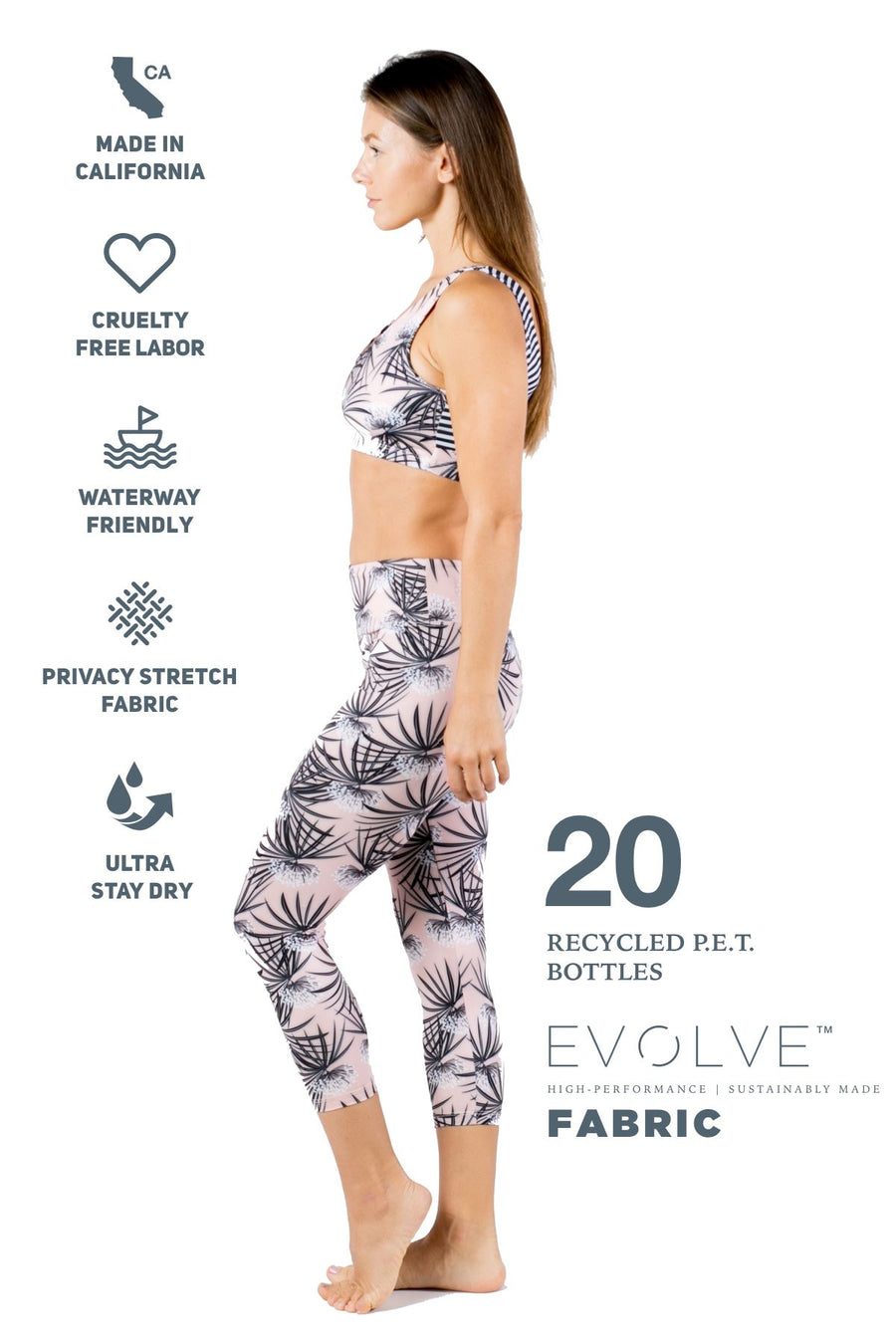 The One Love Eco-Friendly Sports Bra (Sweet Dreams) Yoga and Fitness Tops Mona
