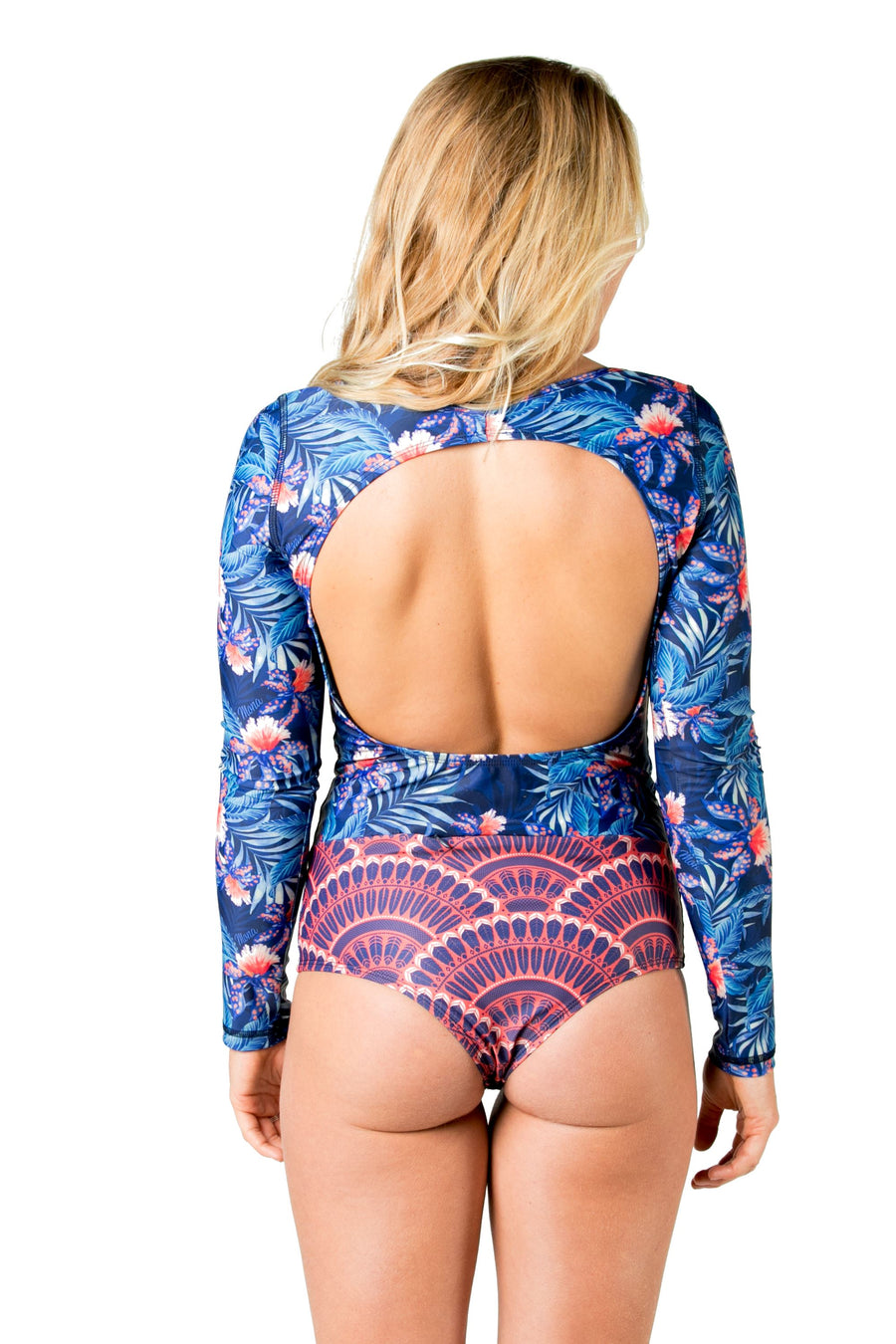 The True Love Long Sleeve Swimsuit (Blue Wow) Swim and Surf One Piece Suits Mona