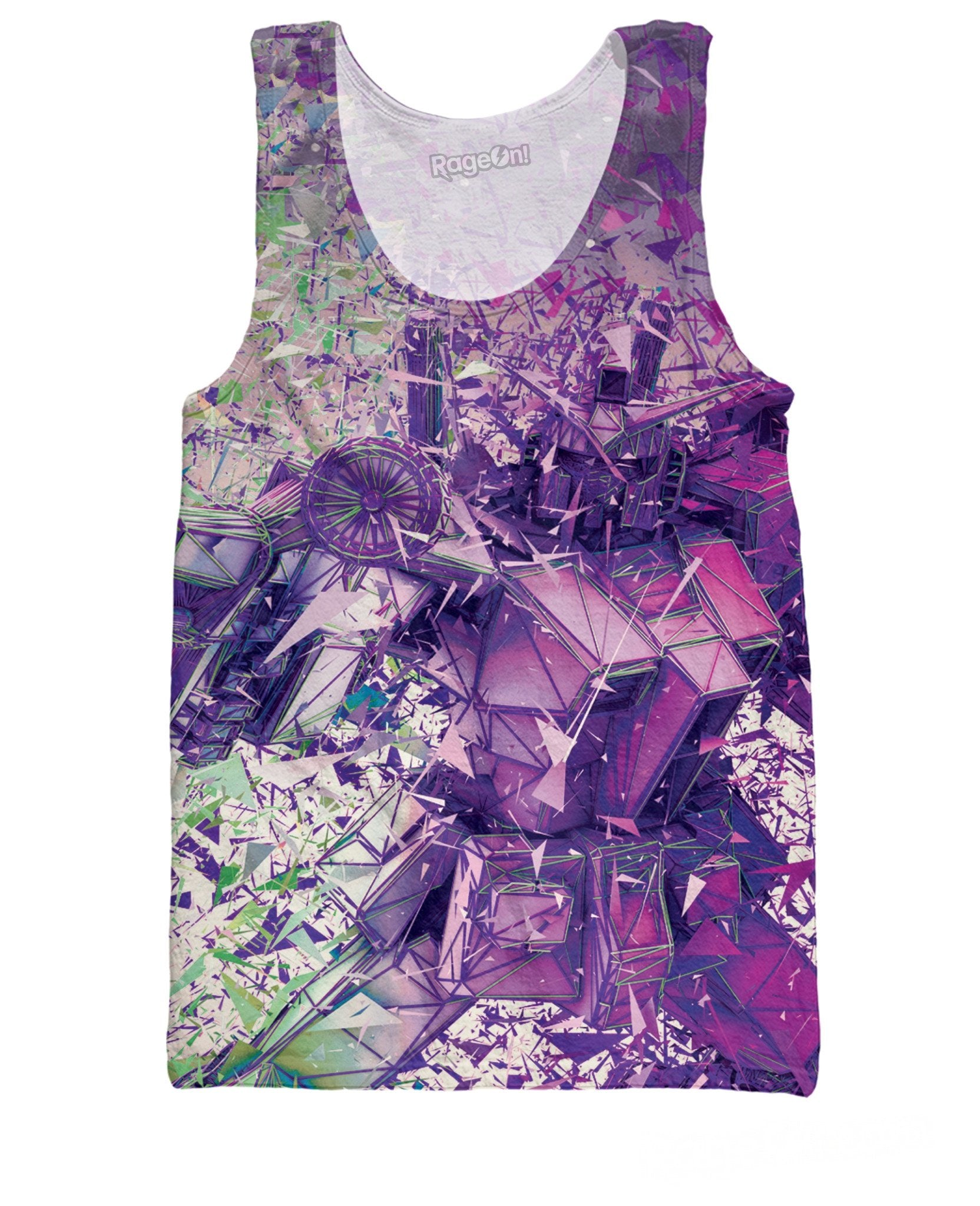 3D Transformers Limited Edition Purple Tank Top - RBFFTW