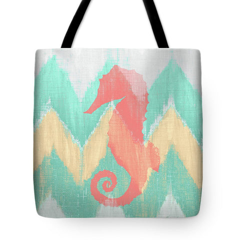 Sea Creature On Chevron II Tote Bag - RBFFTW