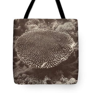 Sepia Barrier Reef Coral II Tote Bag - RBFFTW
