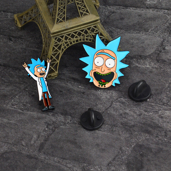 Rick And Morty Enamel Pin 4-piece Set - RBFFTW