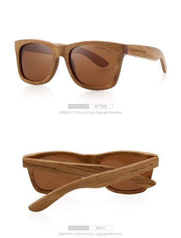 Retro Polarized Wooden Sunglasses - RBFFTW