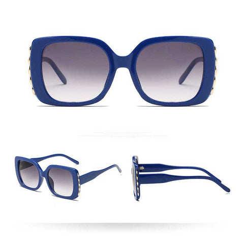 Oversized Vintage Square Gradient Sunglasses - RBFFTW