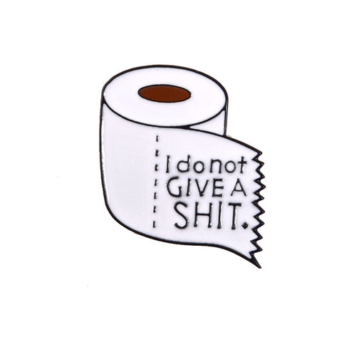 Shit Happens Toilet Roll Enamel Pin - RBFFTW