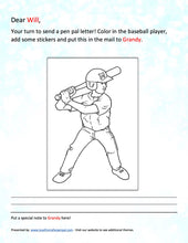 Load image into Gallery viewer, Baseball Pen Pal Letter