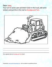 Load image into Gallery viewer, Construction/Heavy Equipment Pen Pal Letter
