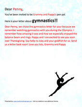 Load image into Gallery viewer, Gymnastics Pen Pal Letter