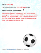 Load image into Gallery viewer, Soccer Pen Pal Letter