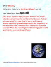 Load image into Gallery viewer, Outer Space Pen Pal Letter