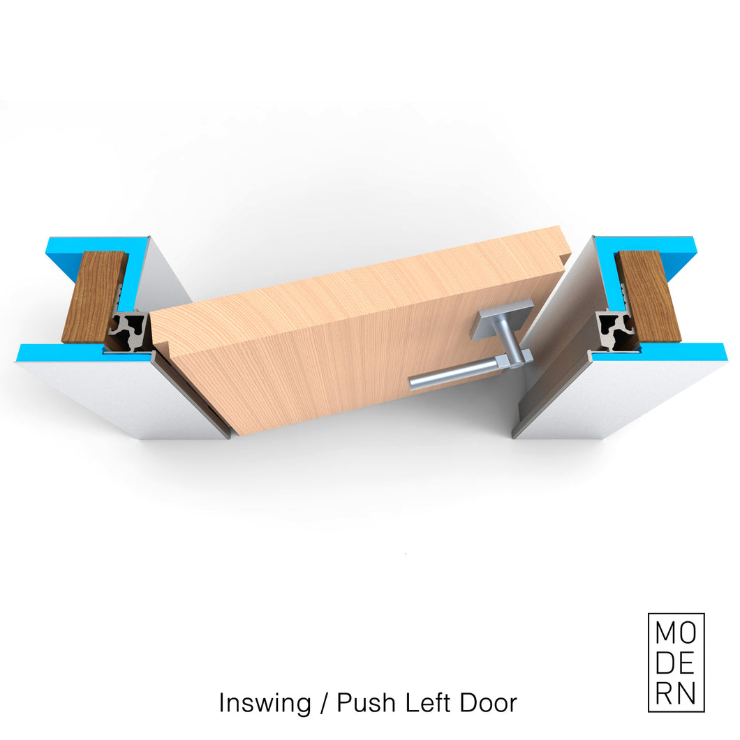 Inswing/Push Left<br>Frameless Door Jamb | Interior door frame