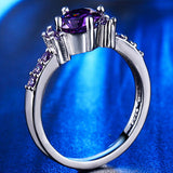 Purple Amethyst Solitaire Ring - I Love Giveaways