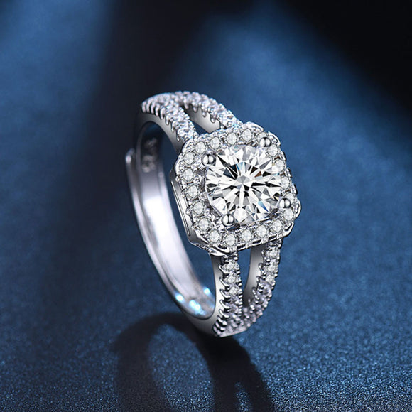 Free Ring: Retro simulation diamond ring - one carat ring