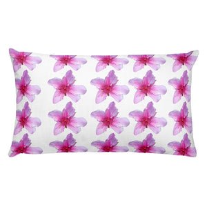 All-Over Print Premium Pillow Case w/ stuffing - Italian Style - Peach Flowers - I Love Giveaways