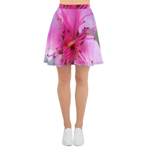 Skater Skirt - Italian Style - Peach Flower. Size: XS-S-M-L-XL-2XL-3XL - I Love Giveaways