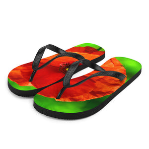 Flip-Flops - Italian Style - Red Poppy - I Love Giveaways