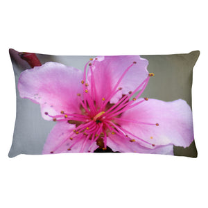 All-Over Print Premium Pillow Case w/ stuffing - Italian Style - Peach Flower - I Love Giveaways